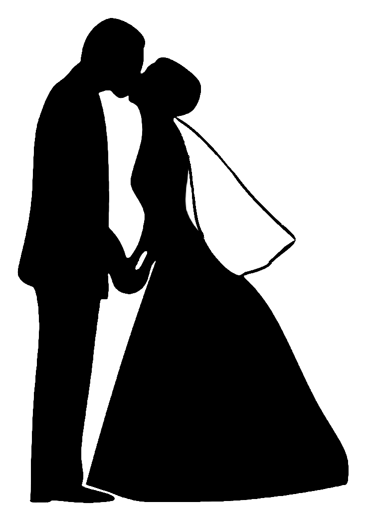 Трафарет жениха и невесты для открыток