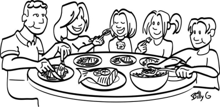 Eating Clipart Black And White - Pencil And In Color Eating for Family Eating Clipart Black And White